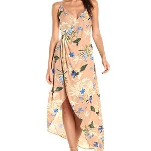 Astr The Label Penelope wrap maxi dress